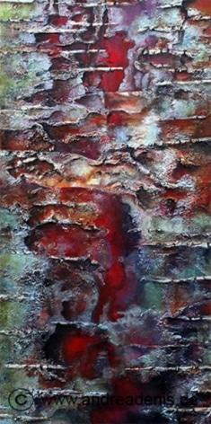 Rinde der Birke Betula Utilis (Detail)