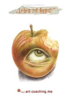 """""""Leben ist Kunst"""" - Apfel mit Biss!"""