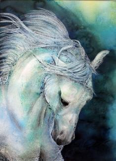 Pferd, Mischtechnik auf Papier, ca. 60 x 80 cm