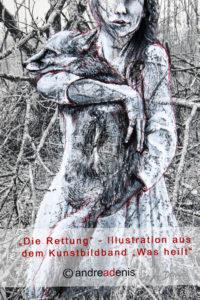 Illustration zum Kunstbildband Was heilt 2019 - Die Fuchsrettung