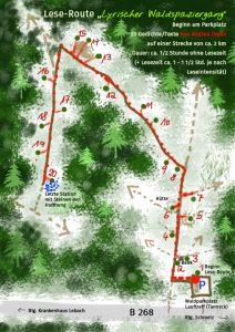 Lese-Route zum Lyrischen Waldspaziergang in Lebach, Waldgedichte2020