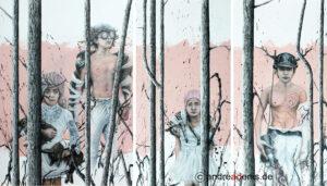 Emergency Room, Triptychon, Kunstgemälde
